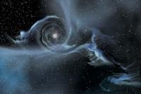 Гравитационная сингулярность (иногда сингулярность пространства-времени) — точка (или подмножество) в пространстве-времени, через которую невозможно гладко продолжить входящую в неё геодезическую линию. В таких областях становится неприменимым базовое приближение большинства физических теорий, в кот