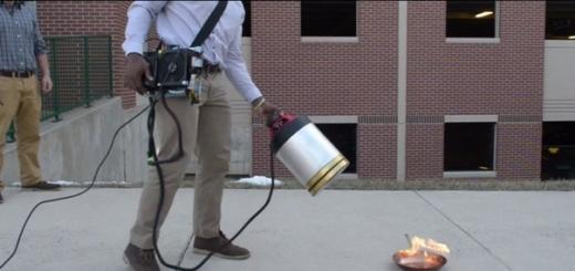 Студенты создали звуковой огнетушитель