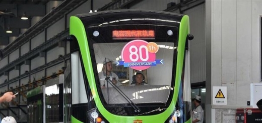 Беспроводной трамвай: 30-секундой зарядки хватает на 5 километров.
