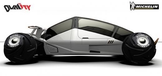 Концепт автомобиля с необычной ходовой частью