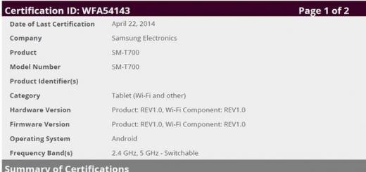 Samsung подтвердила подготовку планшетов SM-T705 и SM-T700