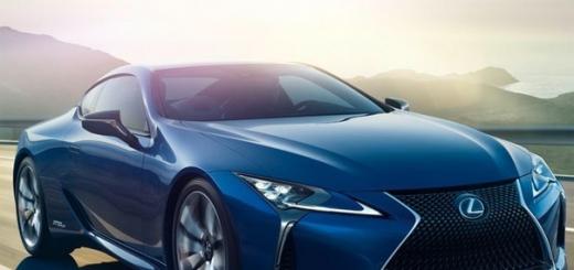 Lexus покажет спорт-купе LC 500h с гибридной силовой установкой