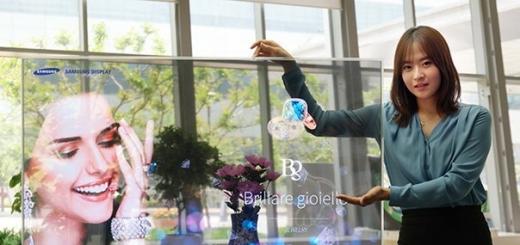 Samsung представила первые зеркальные и прозрачные OLED-панели