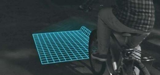 Проецирующая подсветка для велосипеда.