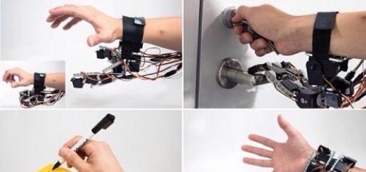 Роботизированное устройство, одеваемое на запястье, даст человеку дополнительную руку