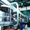 В Шанхае представили стеклянный воздушный поезд