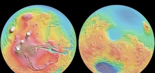 Еще в 1970-х изучавший Красную планету зонд Mariner 9 обнаружил ее странную особенность. Марс оказался «двуликим», и линия раздела проходит примерно по экватору. Поверхность северного полушария примерно на 5,5 км ниже, а толщина коры здесь на 26 км меньше, чем у южного.