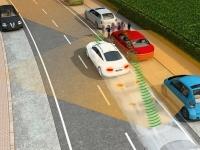 Новая система предупредит водителей о пешеходах вне зоны видимости