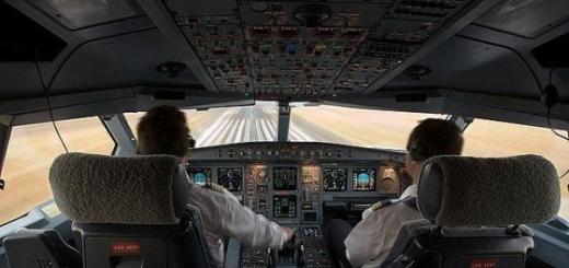 Мир из кабины пилота самолета