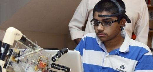 15-летний подросток создал протез руки, управляемый силой мысли
