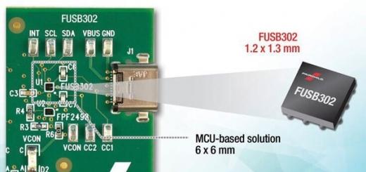 Fairchild FUSB302B — самый маленький контроллер USB-C с поддержкой PD