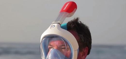 Французская компания Tribord выпустила для любителей сноркелинга маску-шлем Easybreath