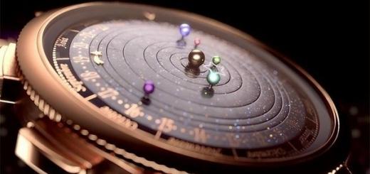 Астрономические часы, показывающие точное движение планет