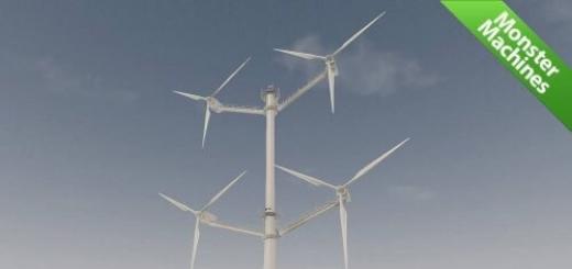 Машины-монстры: Компания Vestas запустила первую в мире турбину ветрогенератора с 12 лопастями