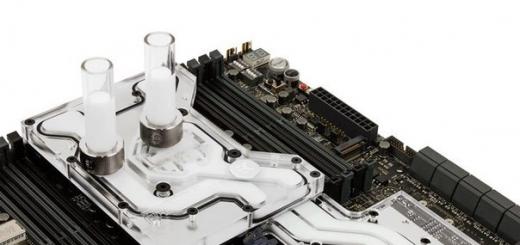 Водоблок EK-FB ASUS R5-E10 Monoblock отводит тепло от процессора и компонентов системной платы ASUS Rampage V Edition 10