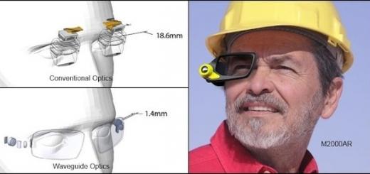 Умные очки с новым типом дисплея