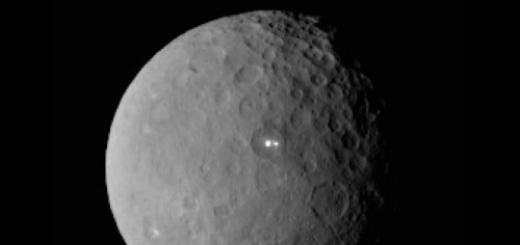 Яркие пятна на поверхности Цереры о которых мы писали сегодня днем могут иметь криовулканическое происхождение