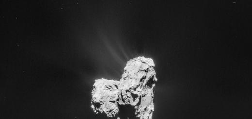 В облаке газа вокруг кометы 67P/Чурюмова—Герасименко обнаружили аминокислоту глицин. Она входит в состав почти всех известных белков и необходима для возникновения жизни.