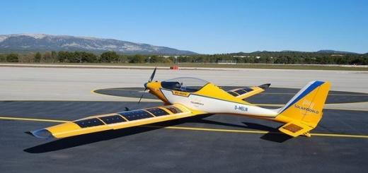 В США создали учебный самолет, который работает от солнечных батарей